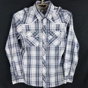 BKE Buckle Plaid Slim Fit Shirt